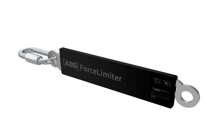 Image showing an ABS ForceLimiter for anchorage systems - specially designed to stretch and reduce the force of a fall