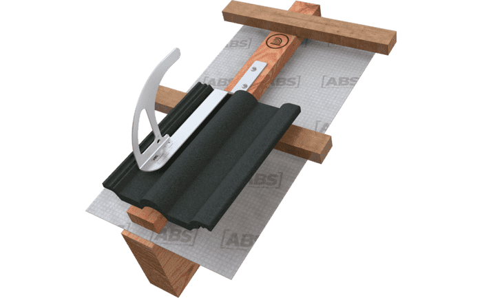 Image showing an ABS-Lock DH04-OG roof safety hook