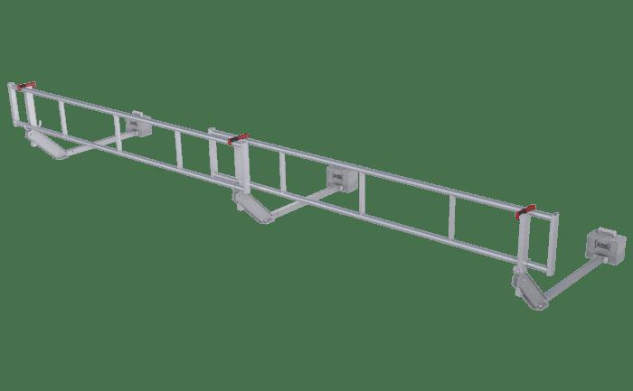 Een mobiele dakrandbeveiliging voor tijdelijk gebruik op platte daken