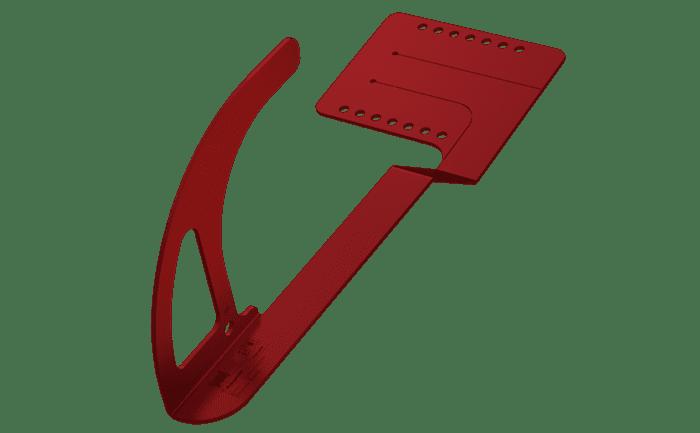Grafik eines roten Sicherheitsdachhakens des Typs ABS-Lock DH05.