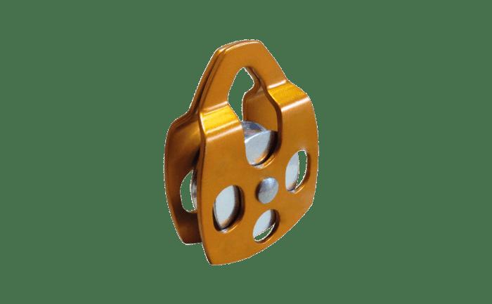 Meeloper voor valbeveiligingstrajecten met staalkabels of koppelingen