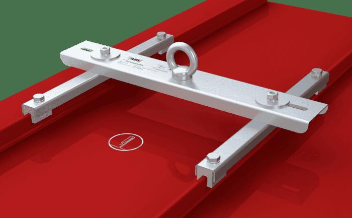 Illustration d'un dispositif d'ancrage pour cordistes, fixé en permanence sur les joints spéciaux