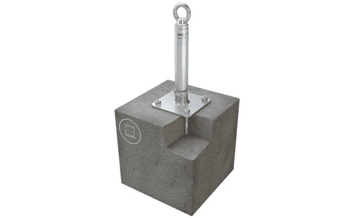 Image showing our stainless steel ABS-Lock X-SR-B anchor - designed for permanent installation on a concrete structure