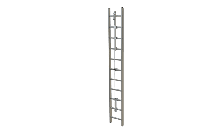 Image showing an ABS SafetyHike vertical lifeline system - provides vertical fall protection when climbing up or down a ladder