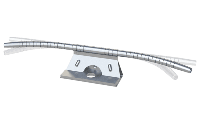 Image showing a flexible ABS TI-FlexCurve curve element which can be bent in any desired direction - specially designed for our ABS-Lock SYS fall arrest systems