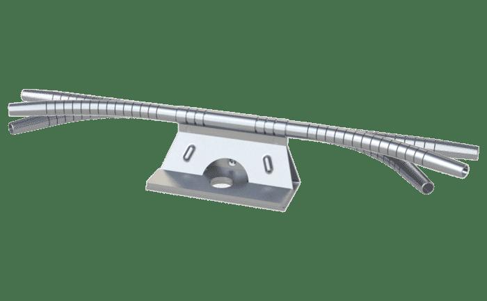 Flexibel en vrij draaibaar bochtelement voor de ABS-Lock SYS valbeveiliging