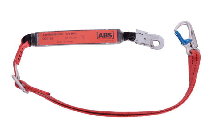 Image showing an ABS Lanyard - for mobile elevating work platforms - designed to protect users from falling from elevating work platforms