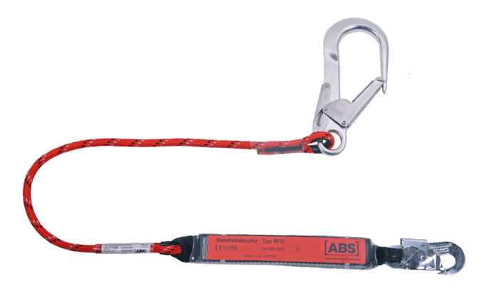 Image showing an alternative ABS Lanyard fall arrest model - fitted with a pipe hook at one end to hook up to larger objects