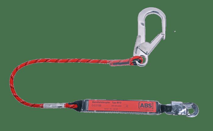 Een koppeling voor valbeveiliging met alternatieve buishaak om aan te lijnen.