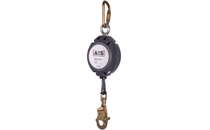 Image showing our specially-designed ABS B-Lock self-retracting lifeline equipped with a DBI carabiner