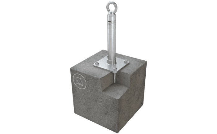 Image showing an ABS-Lock X-SR-AS anchorage point for individuals - specially designed for concrete surfaces. It can also be used for abseiling