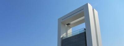 Das Bild zeigt den InnoVatoren, ein Gebäude auf dem Floriade-Gelände im Niederländischen Venlo.