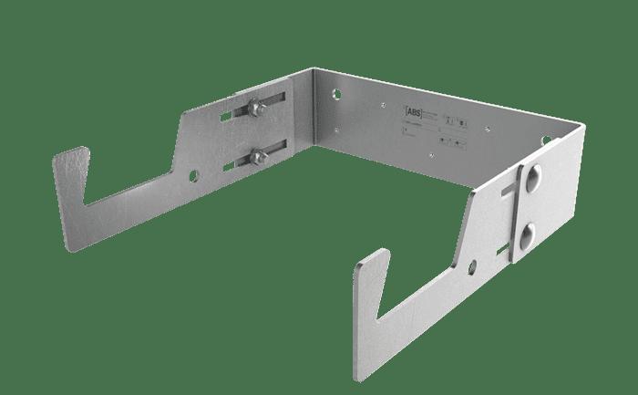 Een permanent geïnstalleerde ladderbeveiliging tegen kantelen en verschuiven.
