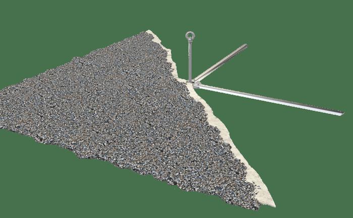 Illustration produit du point d'ancrage ABS-Lock OnTop Weight pour toits plats