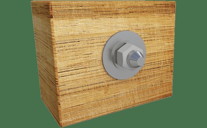 Afbeelding van het ABS-Lock II-ST systeem als door hout heen geborgde variant.