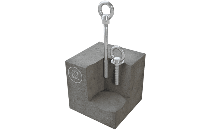 Illustration du point d'ancrage ABS-Lock III-B monté dans du béton