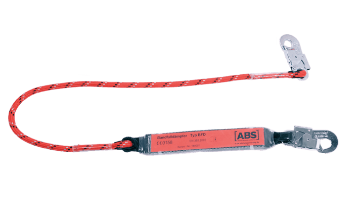 Image showing an ABS Lanyard connector. It has a set length and is considered a standard PPE component