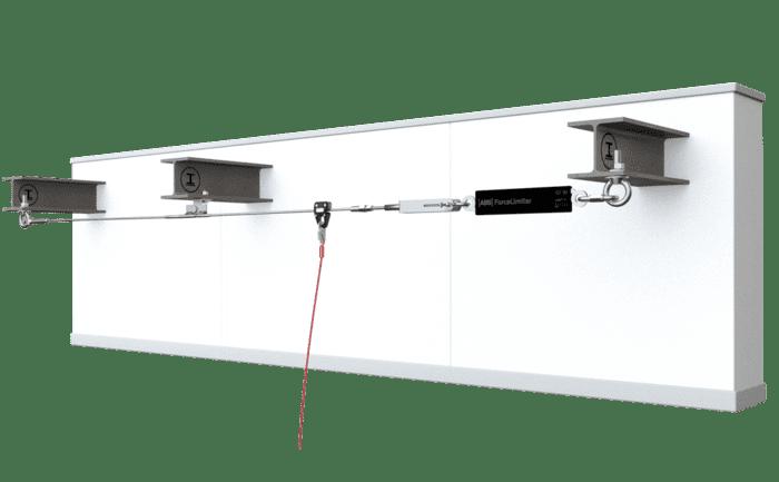 Grafik einer Anwendung des Seilsicherungssystems ABS-Lock SYS über dem Kopf.