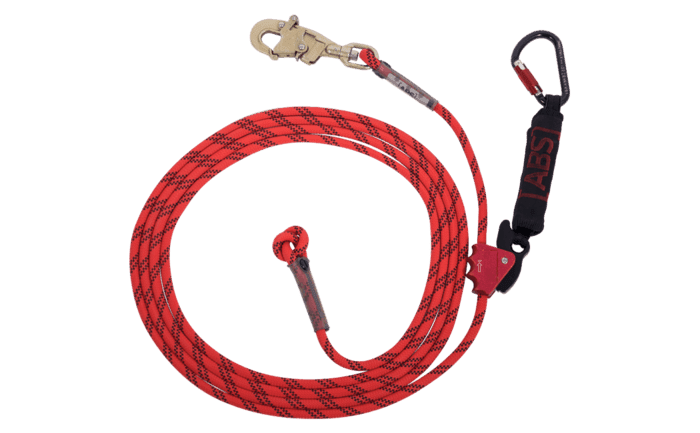 Photo showing an alternative ABS Lanyard model equipped with a DBI carabiner