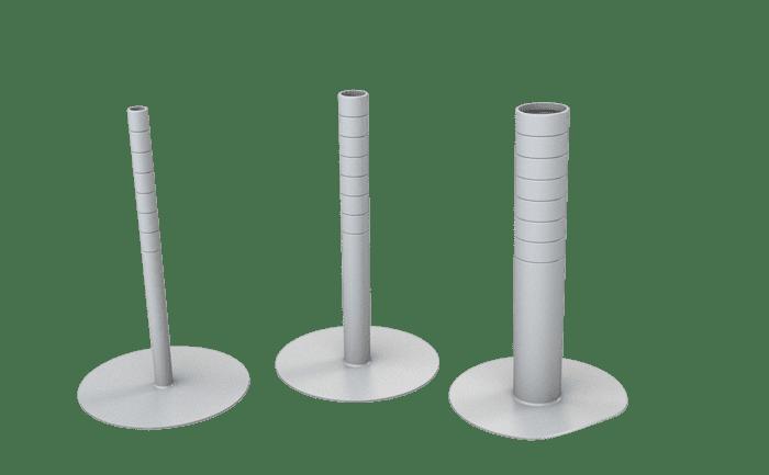 Afdichting voor ankerpunten op PVC-, PP- en PE-daken.