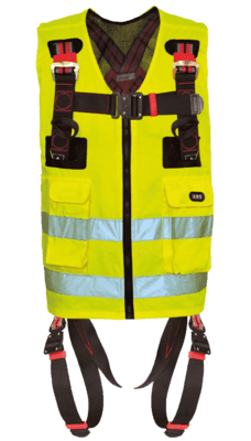 Image showing a high-viz ABS ComfortVest with its integrated safety harness which protects the user from falls