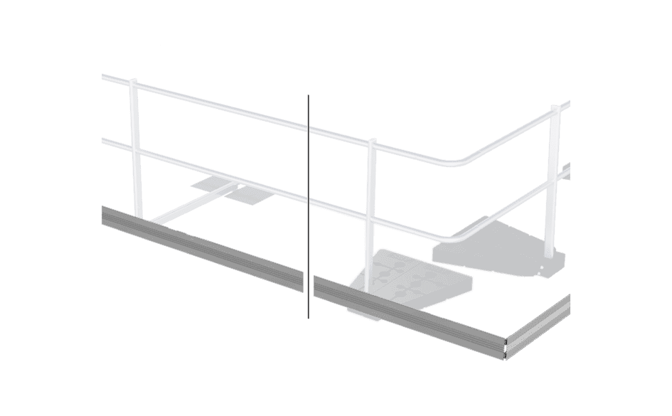 Image showing our optional ABS Guard Toeboard - suitable for all ABS Safety guard rail sytems