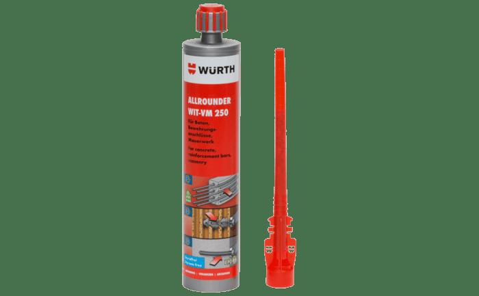 Koker met injectiemortel voor betonconstructies