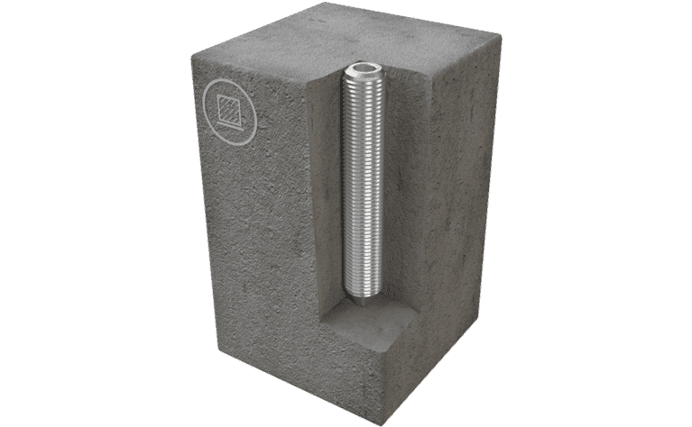 Image showing an ABS-Lock II installed in concrete
