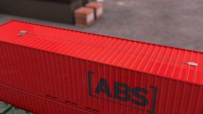 ABS-Lock X-Flat installé sur un container avec un Ligne de vie