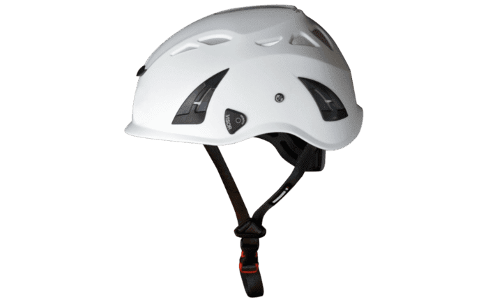 Image showing an ABS Comfort Helmet with its pleasant-to-wear ventilation system - specially designed for industrial climbers
