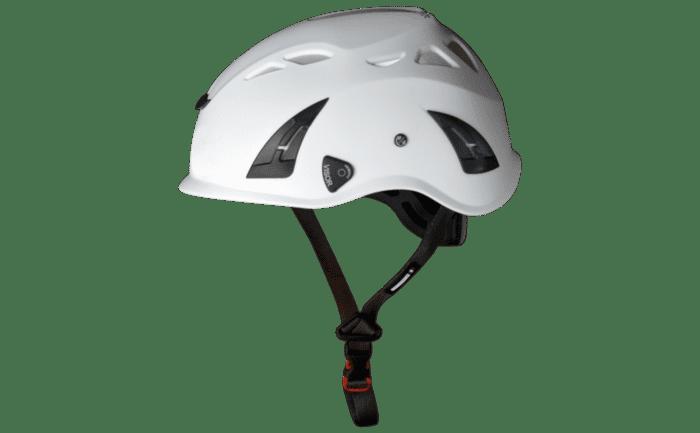 Bild eines Industriekletterer-Helms mit angenehmer Belüftung.