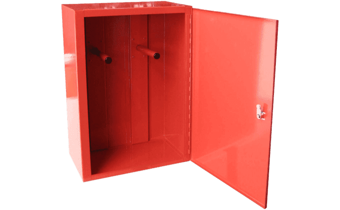 Image showing an open metal ABS Care+ storage locker which is designed for storing PPE equipment