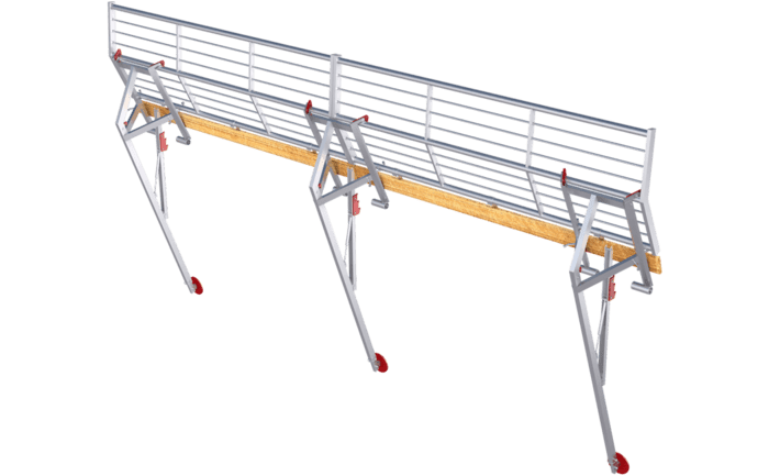 Image showing an ABS Mobile Guard - pitched guard rail system - specially designed for temporary usage on a pitched roof surface