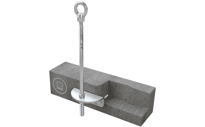 Image showing an ABS-Lock III-SEITL-65 installed in concrete