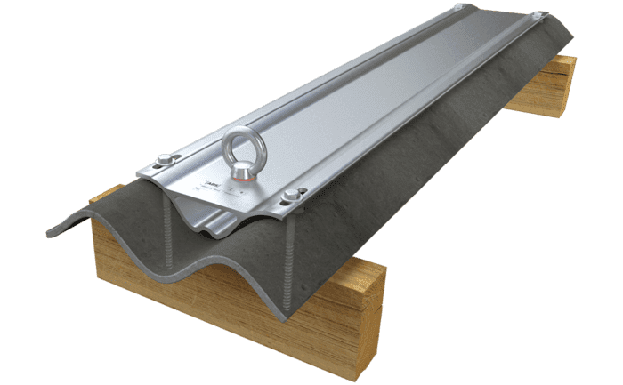 Image showing our highly durable ABS-Lock Wave anchorage point - specially designed for corrugated roof surfaces