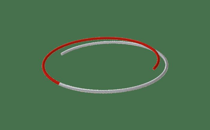 Produktbild des ABS Spezial-Edelstahlseil (Rot und Farblos)
