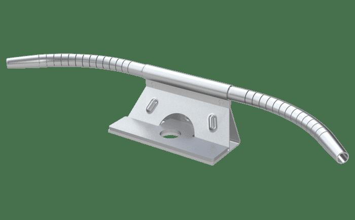Bochtelement voor aanlijnvoorzieningen met 8 mm staalkabels