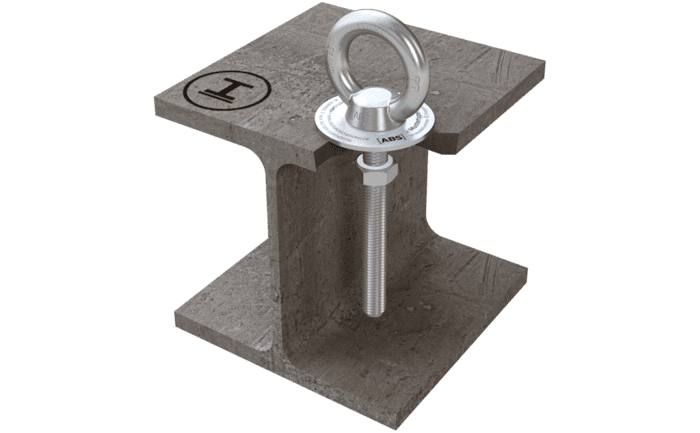 Image showing our discreet ABS-Lock IV personal anchorage point - specially designed for steel structures