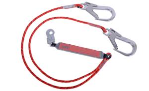 Image showing our twin cable (PPE) with pipe hooks which offers double protection from dangerous falls