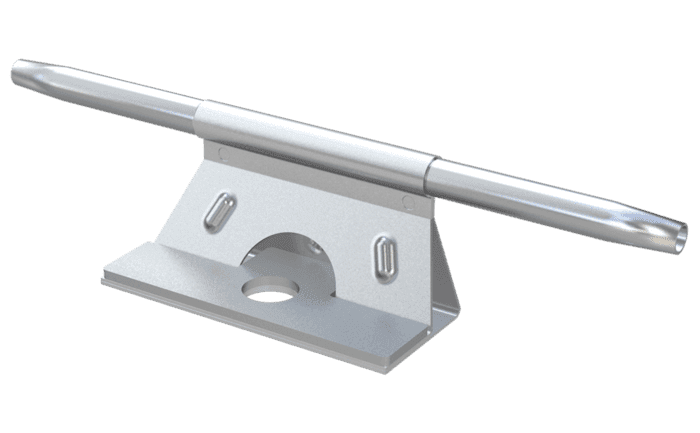 Image showing a fully-traversable ABS TI Bracket - an intermediate bracket for lifeline systems