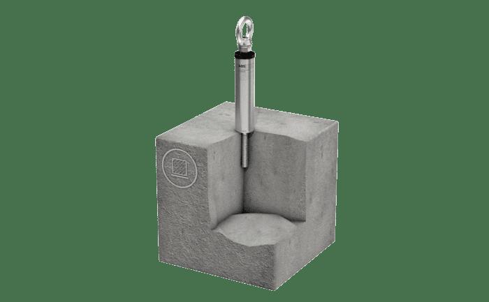 Illustration du produit point d'ancrage ABS-Lock III-B avec douille de renfort