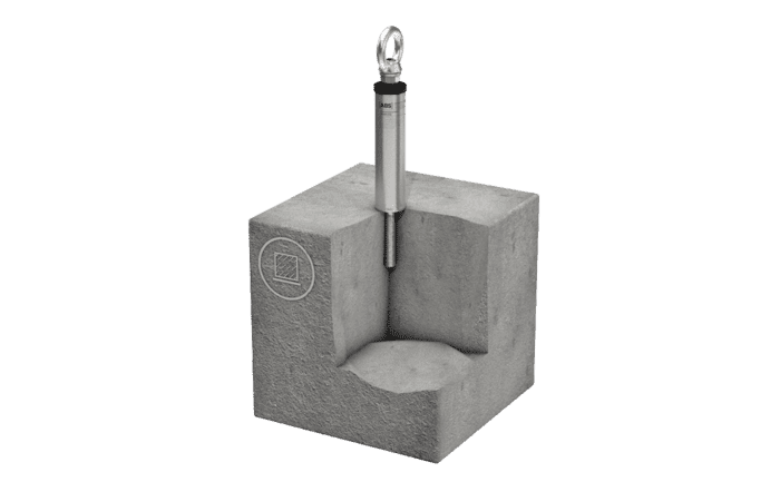 De met een steunbuis versterkte aanlijnvoorziening ABS-Lock III-B