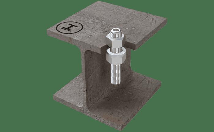 Afbeelding van het ABS-Lock II systeem gemonteerd in staal.
