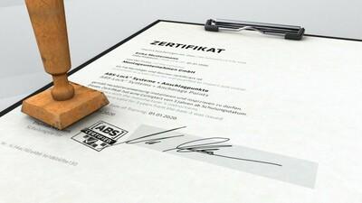 Grafik eines Zertifikats zum Revisor für Sekuranten
