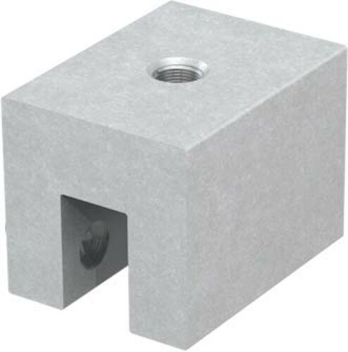 Detailed image of this special seam clamp anchor solution for metal seam roofs
