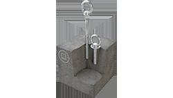 ABS-Lock B montiert in Beton, Anschlagpunkte zur Absturzsicherung