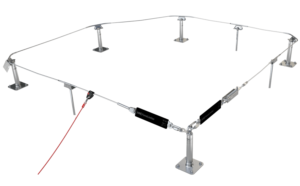 Image showing a lifeline system where you only need to attach your glider to it once